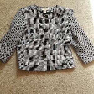 Covington black and white print blazer size small